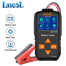 Lancol MDXT600 12V רכב סוללה בודק TFT LCD מסך 40 2000 CCA רכב אלטרנטור Tester דיגיטלי אוטומטי סוללה מנתח