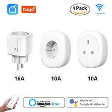 Smart WiFi Plug Adapter EU/UK Timing Function Remote Voice Control Wireless Socket Outlet with Amazon Alexa Google Home Tuya все цены