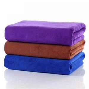 Image 3 - 160*60cm 1 pçs toalha de lavagem de carro toalha de microfibra hemming cuidados com o carro detalhando lavagem limpeza pano de secagem