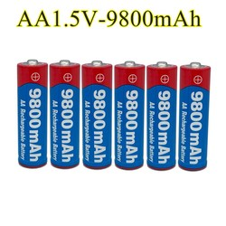 2020 New Tag AA battery 9800 mah rechargeable battery AA 1.5 V. Rechargeable New Alcalinas drummey