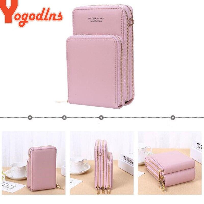 Yogodlns Crossbody Cell Phone Shoulder Bag Cellphone Bag Fashion Daily Use Card Holder Mini Summer Shoulder Bag for Women Wallet 4