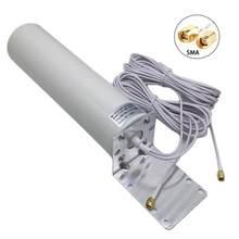 4G LTE Antenne 3G 4G Externe Antennna Outdoor Antenne Mit 5m Dual-SlIder CRC9/TS9/SMA Stecker Für 3G 4G Router Modem