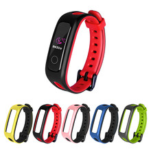 Para huawei banda 4e 3e honor band 4 running silicone macio pulseiras de relógio pulseira substituição pulseira acessório inteligente