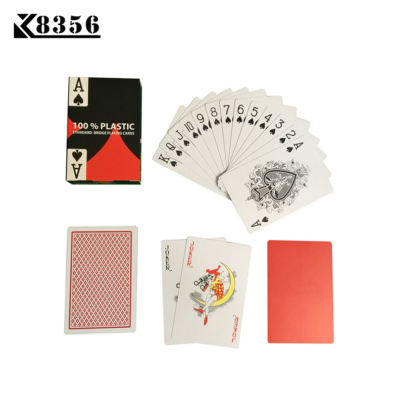 K8356 New HOT Baccarat Texas Hold'em PVC Plastic Playing Cards Waterproof Frosting Poker Card Board Bridge Game 2.28*3.46 Inch