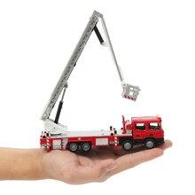 1:50 17x6x4 см детские игрушки Высокая симуляция пожарная машина пожарная лестница автомобиль детские развивающие игрушки