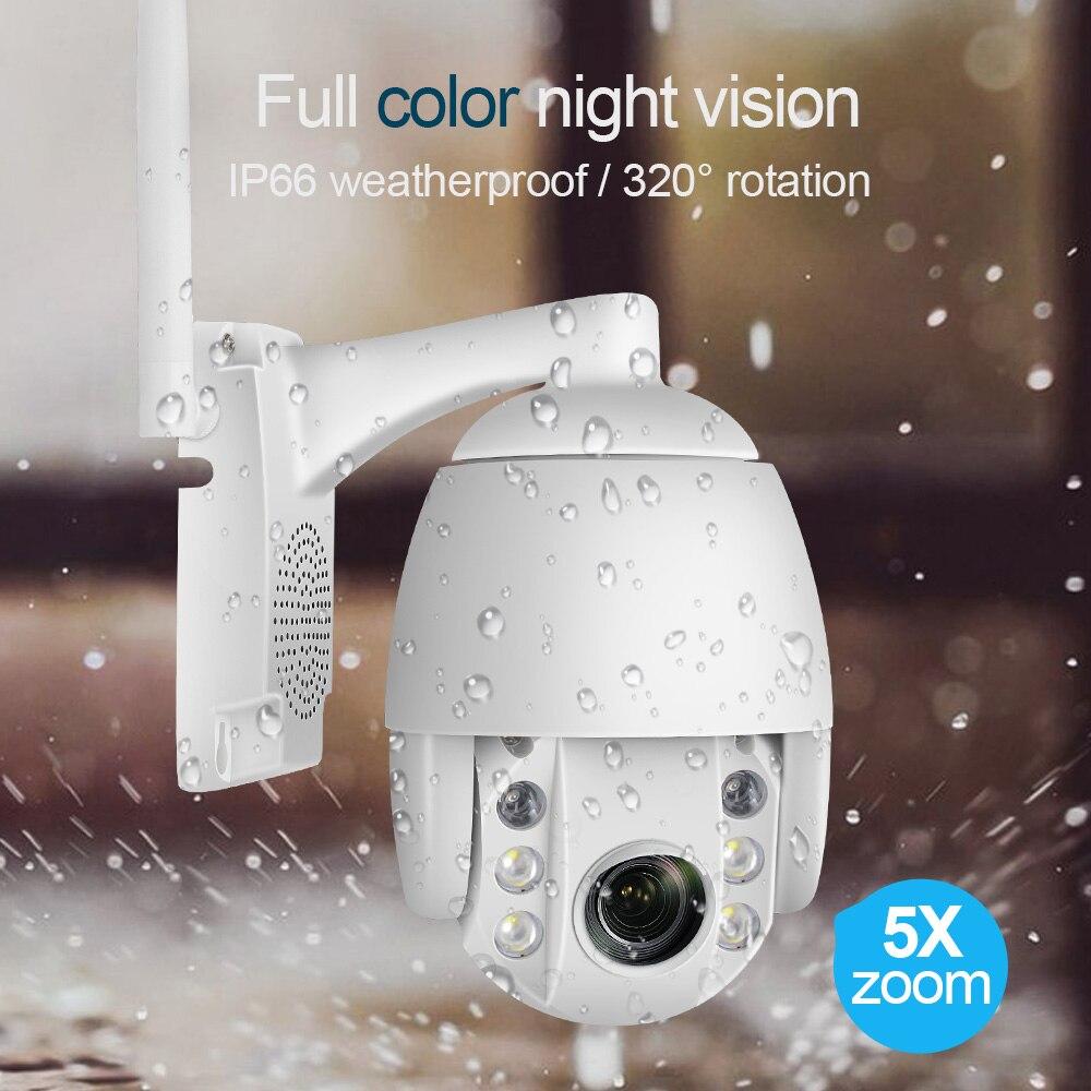 luowice Mini 2.5 Inch PTZ Speed Dome WIFI IP Camera 1080P Outdoor 5X Zoom  Wireless Camera IR 60m Two Way Audio camhi APP