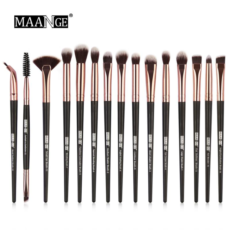 15pcs Fan Shape Makeup Brushes Set For Foundation Powder Blush Eyeshadow Concealer Lip Eye Make Up Brush Cosmetics Tools TSLM1