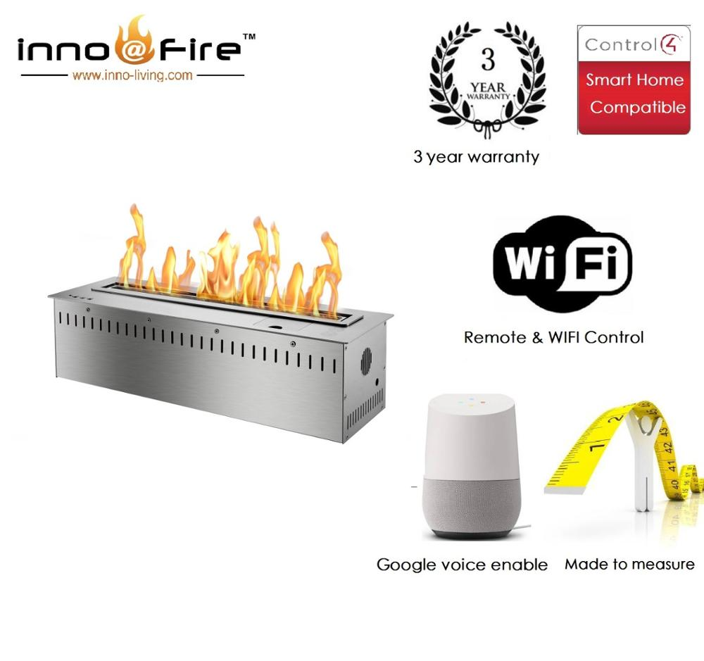 Inno Living Fire 36 Inch  Wifi Remote Burner Bio Ethanol Fireplace
