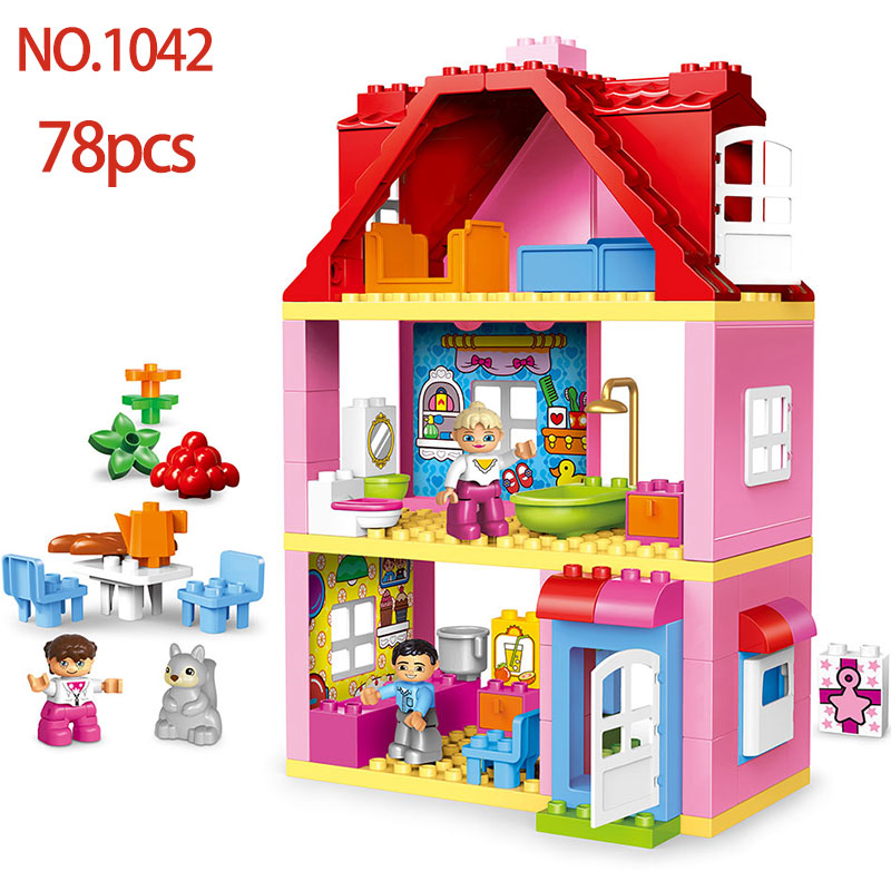 Diy Big Size City Fire Department Friend Building Blocks Compatible With  LegoINGlys Duploed Brick Toys Gift For Baby Children