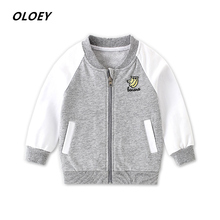 2019 New Autumn  Childrens Jacket Cotton Embroidery For A Boy Windbreaker Girls Zipper Cardigan Clothes
