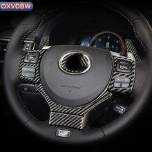 цена на For LEXUS NX200 300h CT200h IS250 200t RC accessories Steering Wheel decorate carbon fiber automotive interior trim stickers