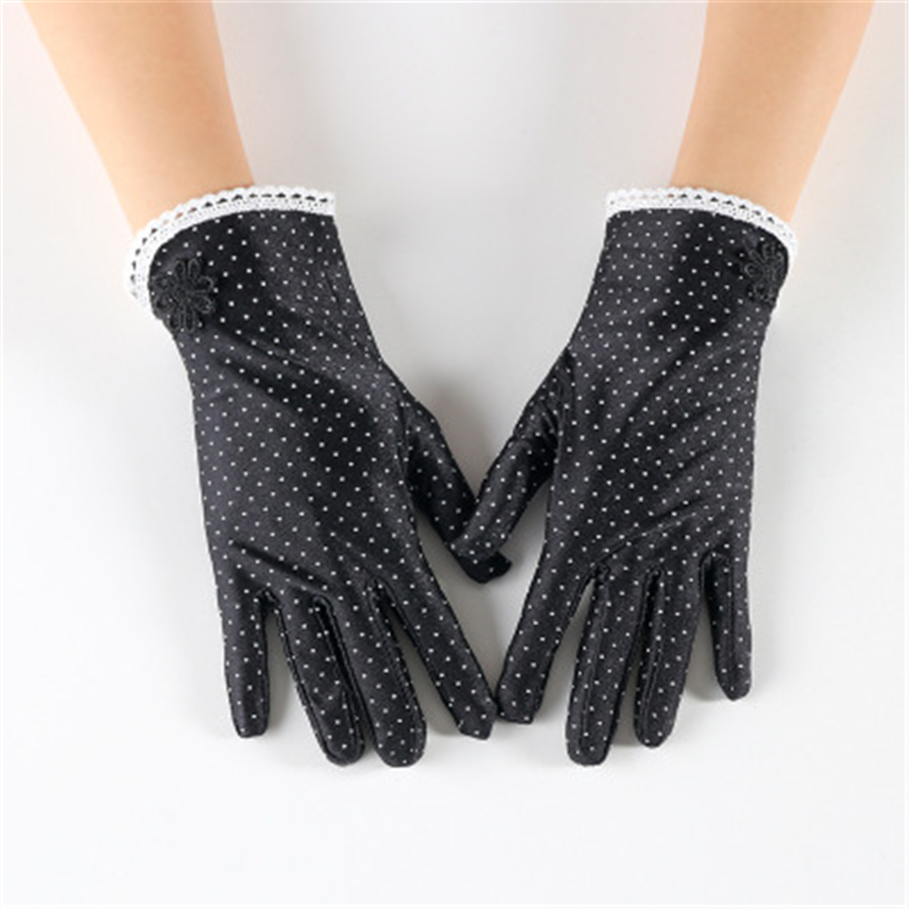 Spring And Summer, Ms. Fashion, Slim, Short, Lace, A Little Stretch SPANDEX Suntan Glove  JT010