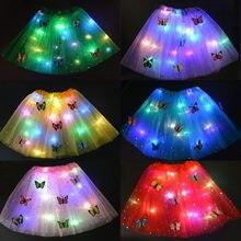 Mulher menina luz brilho borboleta tutu saia led néon luminosa festa presente decoração da casa casamento aniversário páscoa ramadan wear