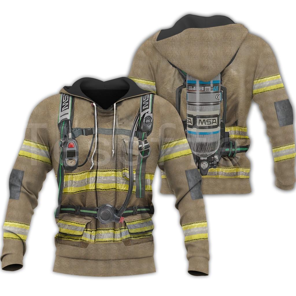 Tessffel Firefighters Suit Firemen Superhero Harajuku Tracksuit NewFashion 3DPrint Zipper/Hoodies/Sweatshirt/Jacket/Men/Women S4