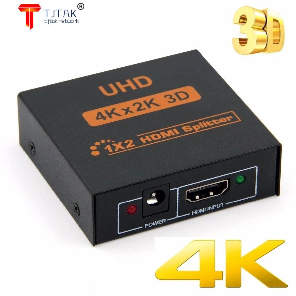 4K HDMI Divisor Completo HD 1080P Video HDMI Switch Switcher 1x2 1x4 Dividir 1 em 2 Fora Amplificador de Exibicao Para HDTV DVD