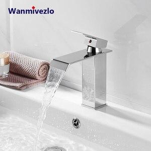 Image 1 - Robinets de mélangeur de lavabo montés sur le pont, mitigeur dévier de salle de bains robinets deau chaude et froide robinet de lavage à une poignée robinets dévier Torneira