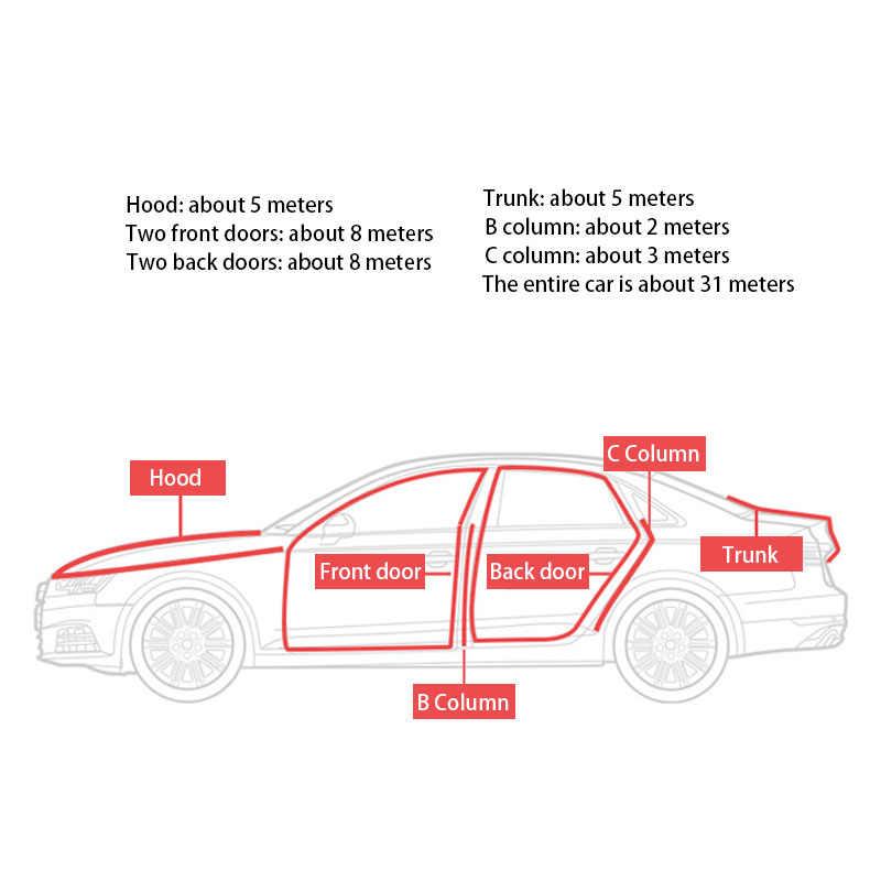 Mobil Pintu Karet Seal Strip Pintu Edge Auto Penyegelan Stiker Isolasi Kebisingan Weatherstrip Interior Protector Seal Di Mobil Styling