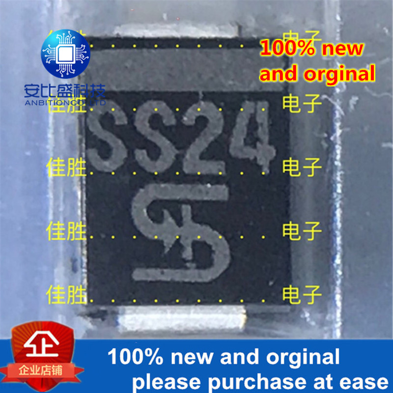 50pcs 100% New And Orginal SS24 2A40V DO214AA Schottky  In Stock