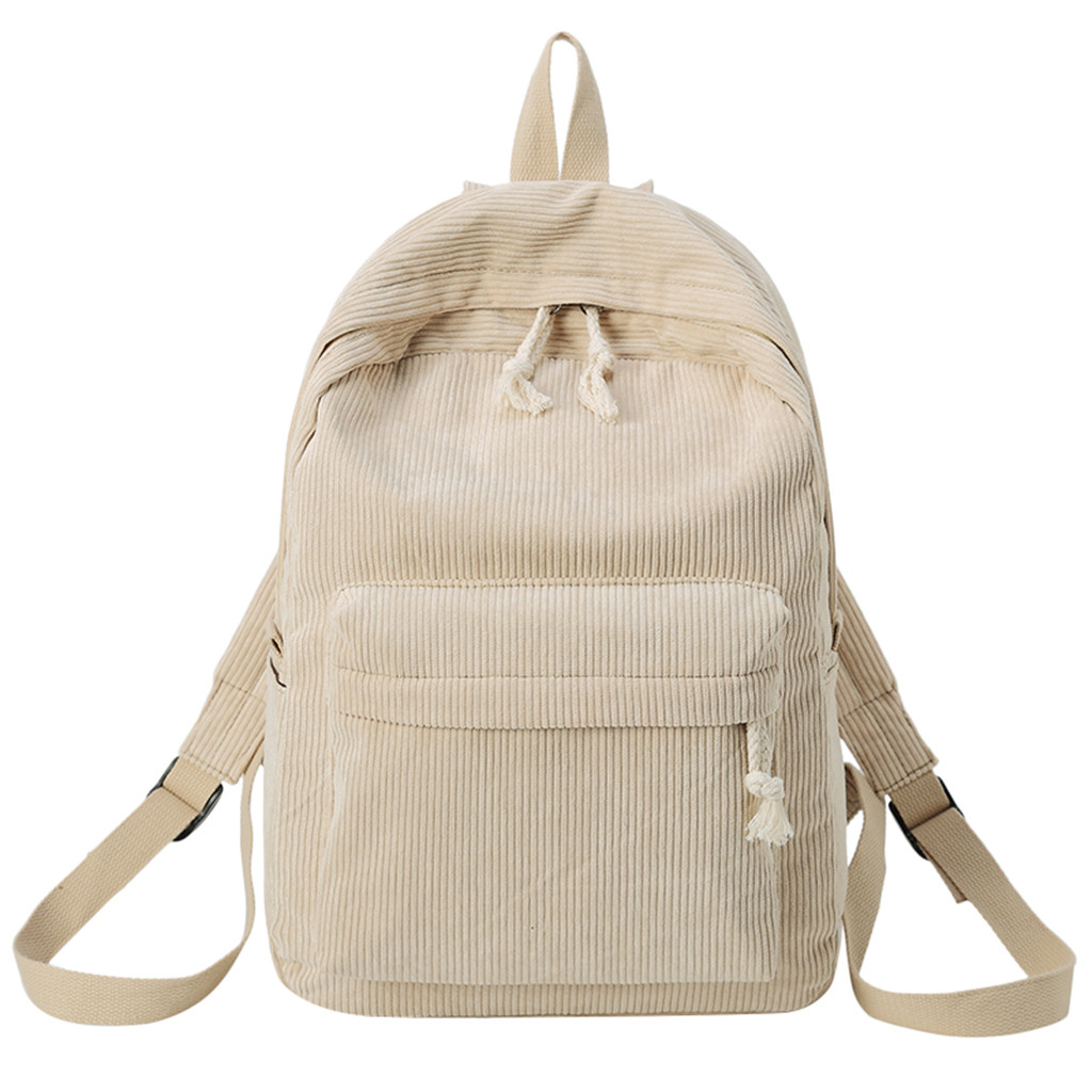 Students Bags New Style Soft Fabric Backpack Female Corduroy Design School Backpack For Teenage Girls Striped Backpack Women|Backpacks| |  - title=