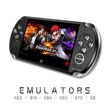 Console de videogame retrô psp x9, console de jogos eletrônicos para psp, jogos de viat, tela de 5.0 polegadas e tv câmera do filme mp3