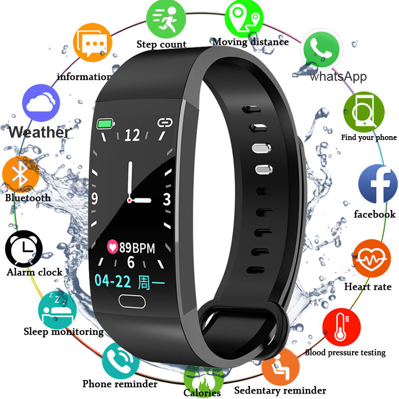 Smart Bracelet Blood Pressure Measurement Fitness Tracker Watch Waterproof Heart Rate Monitor Smart Wristband Women Men Watch