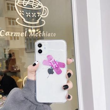 Gorący przezroczysty śliczne śmieszne ok bandaż miękki silikonowy futerał na telefon dla iphone 12 11 Pro 7 8 plus X XS XR MAX moda chronić pokrywę tanie i dobre opinie CN (pochodzenie) Etui z portfelem INS new Personality fashion cute broken band-aid phone case cover Urządzenia iPhone Apple