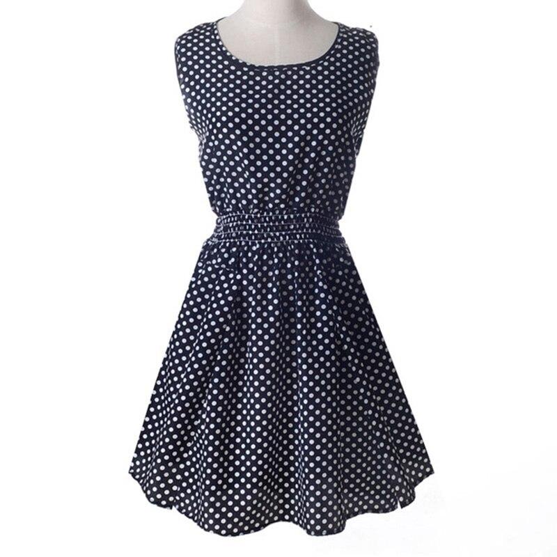 Summer Dress Boho New Women Beach Sleeveless Sundress O-Neck Florals Print Tank Party Clubwear Elegant Mini Dress