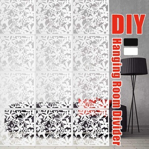 For Home Fashion 12 Pcs Butterfly Bird Flower Hanging Screen Partition Divider Panel Room Curtain Home White/black/red