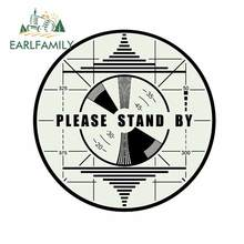 EARLFAMILY 13cm x 9cm For FALLOUT Please Stand By Motorcycle Car Stickers Car Accessories Decal Waterproof For JDM SUV RV