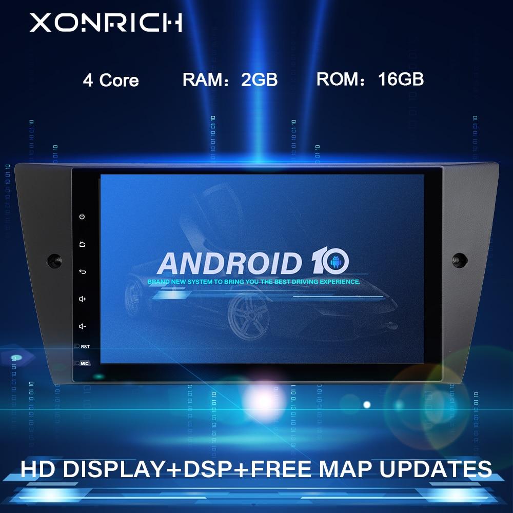 Xonrich 1 Din Android 10 Автомобильный мультимедийный DVD плеер для BMW E90/E91/E92/E93 3 серии gps-навигация, радио, стерео аудио головное устройство