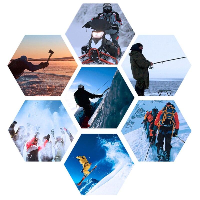 Зимние теплые перчатки с подогревом для мужчин и женщин, уличные перчатки для катания на лыжах, велоспорта, пеших прогулок, перчатки с элект... - 6