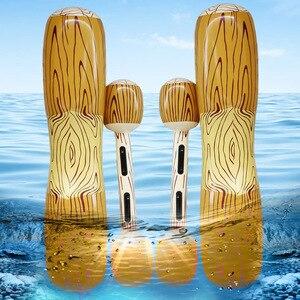 Image 4 - YUYU 4 Miếng Phao Hồ Nước Đồ Chơi Trò Chơi Bơi Inflat Bể Bơi Phao Bơm Hơi Đồ Chơi Người Lớn Tiệc Bể Bơi Inflat Bè bể Đồ Chơi Kid