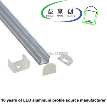 10 Sets/Lot U Anodized LED aluminum profile w/ 30 degree Lens AL6063 Aluminium led profile LED Channel profile for recessed wall