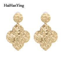 Fashion Beating Irregular Geometric Lady Earrings Exaggerated Extra Large Fog Gold Drop Earrings Luxury Jewelryy 1pcs set exaggerated geometric acrylic drop earrings women irregular large crystal dangle earring female jewelry lady