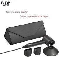 BUBM дорожная сумка для хранения сверхзвуковой фен для волос Dyson, Магнитный Флип-органайзер из искусственной кожи с защитой от пыли, чехол для ...