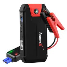 Car Battery Booster Power Car Jumper Starter Portable Wireless charger 1000A 13800mAh Bank with LCD Screen LED Flashlight Safety