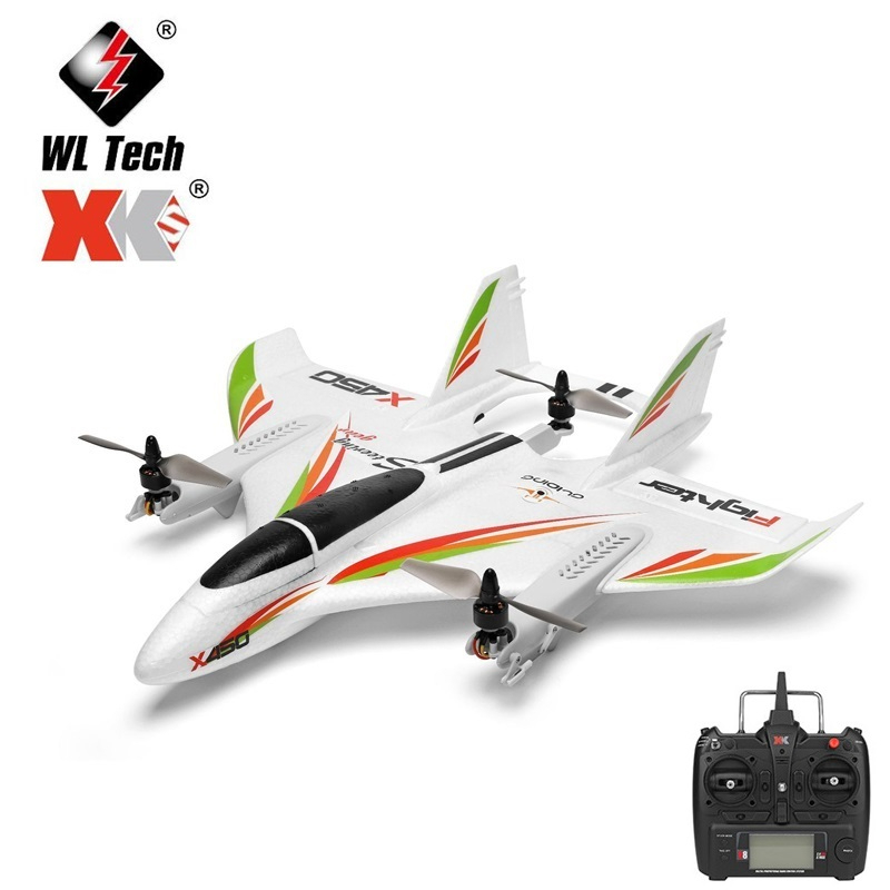 WLtoys XK X450 2.4G 6CH 3D 6G RC Airplane Brushless Vertical Takeoff With LED Light RC Glider Fixed Wing RC Aircraft RTF RC Toys