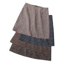 Привлекательная женская сумка клетчатая юбка с высокой талией