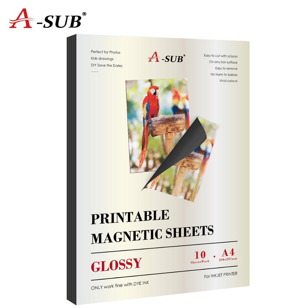 Magnetic Inkjet Sticker Photo Paper A4 Glossy For Inkjet Printer