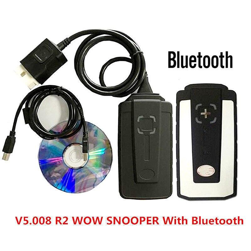 Сканер Wow Snooper 2020 v5.008 R2 Wow Bluetooth Obd2, автомобильный Профессиональный диагностический инструмент, инструменты для грузовиков, инструмент для ха...