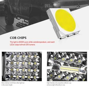 Image 4 - 18W 60W 72W 4 אינץ LED אור עבודה בר מבול ספוט קומבו Beam 12V 24V לuaz משאית 4X4 טרקטורונים SUV UTV LED נהיגה עבודה מנורת ערפל