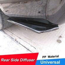 Универсальный автомобильный спойлер для заднего бампера, защита для губ из углеродного волокна