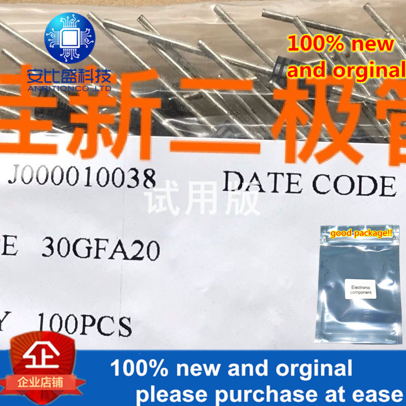 10-20pcs 100% New And Orginal 30GFA20 3A200V30ns Ultra-fast Recovery Diode 3GFA20KH In Stock