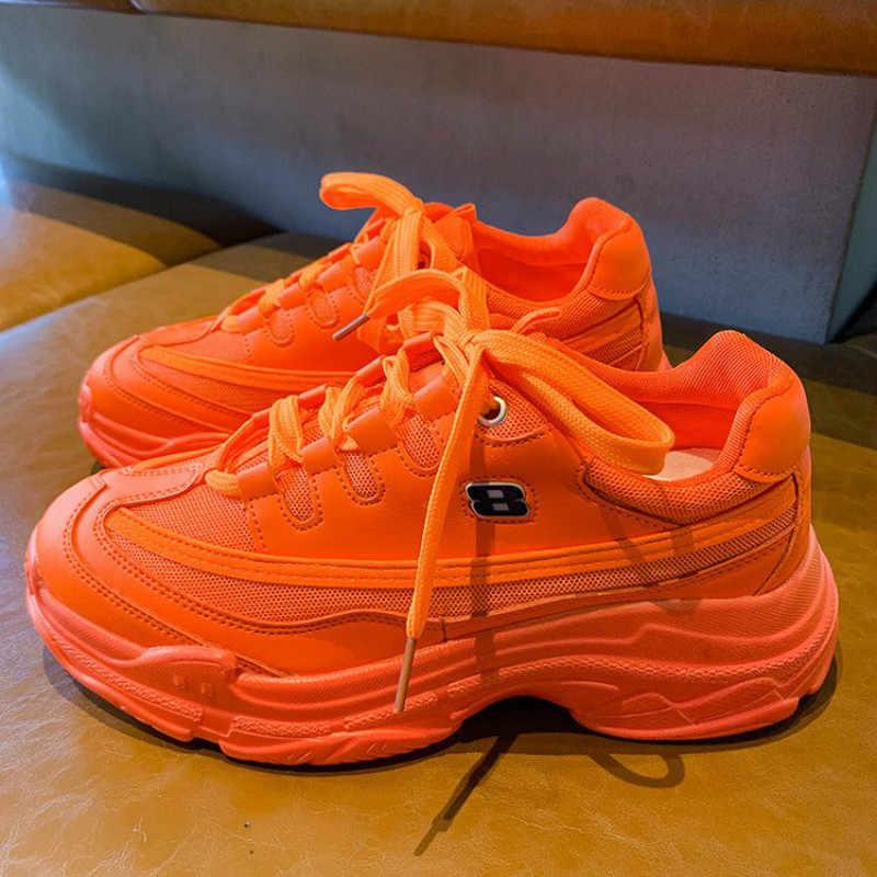 2019 frauen Chunky Turnschuhe Tenis Korb Frauen Casual Schuhe Plattform Schuhe Ulzzang Papa Schuhe High Top Sneakers Zapatos Mujer