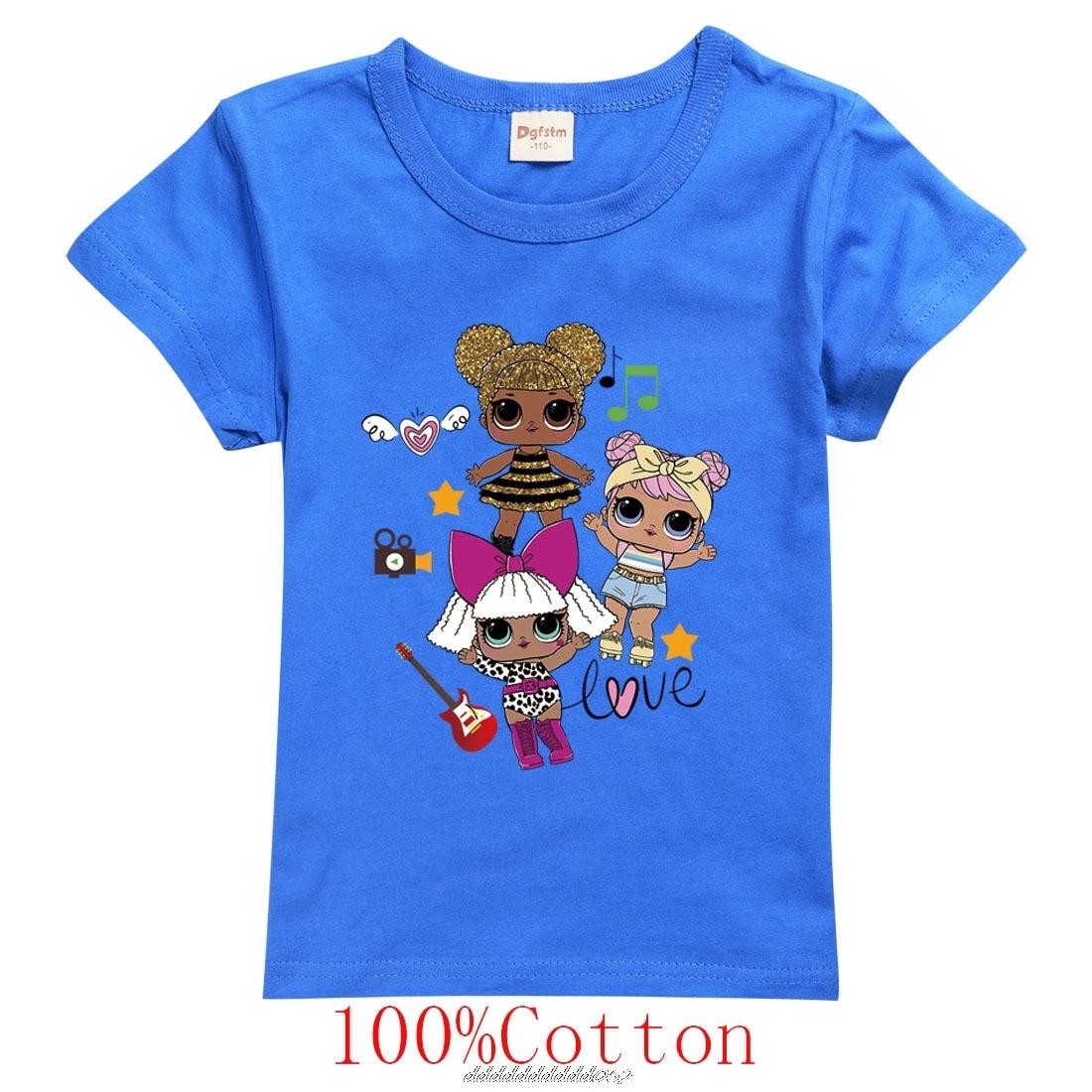 LOL SURPRISE Kids Clothes Girls 3-14 Teenage Cotton Graphic Tees Kids Clothing Teen Girls Tshirt Little Boys Shirt Child Tops