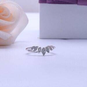 Image 2 - Transmems 10 к белое золото центр Маркиза Форма круглый F бесцветный Муассанит Корона Обручальное кольцо обручальное