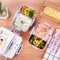 Bpa livre caixa de almoço dos desenhos animados eco-friendly trigo palha linda bento caixa de microondas louça recipiente de armazenamento de alimentos para crianças