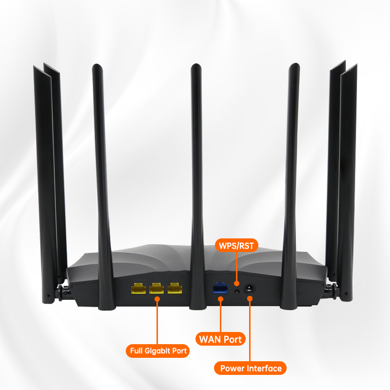 AC23 AC2100M Wireless WIFI Router Whole Home Dual Band 2.4G/5Ghz Gigabit Wifi Extender 7*6dBi Antennas With Multilingual 4