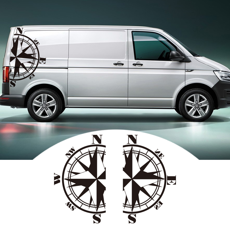 2 PCS Car Stickers For Bus T4 T5 T6 Compass left right side Auto Body Vinyl Decals Decal Sticker