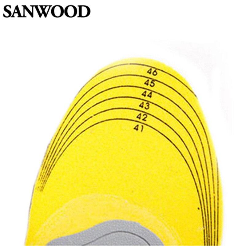 Plantillas de zapatos ortopédicos 3D para hombre y mujer, almohadilla dcon soporte de arco alto, plantillas ortopédicas con memoria de algodón